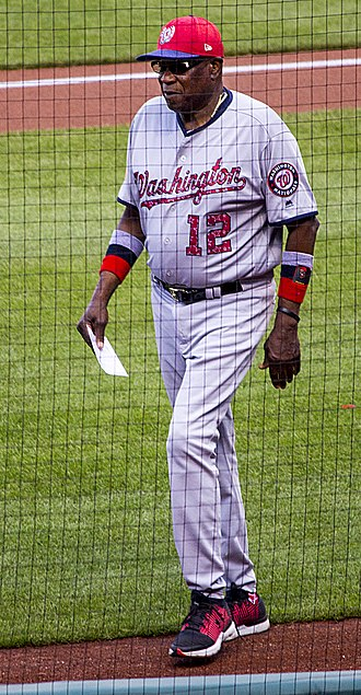 Dusty Baker - Baker managing the Nationals in 2017.