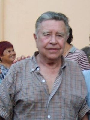 Manuel Felguérez - Image: EL MAESTRO FELGUEREZ Y SANTIAGO POLVOS