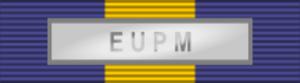International decoration - Image: ESDP Medal EUPM ribbon bar