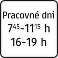 E 12 - Dodatková tabuľka s textom, časové ohraničenie počas pracovných dní (vzor).png