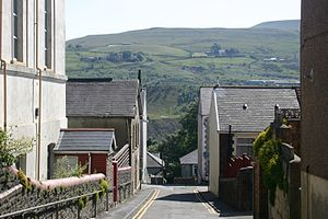 South Wales Valleys - View from Ebbw Vale in the Ebbw Valley