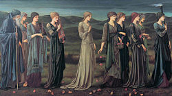 Edward Burne-Jones: Psyche's wedding