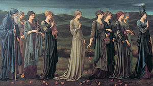 Cupid and Psyche - Psyche's Wedding (Pre-Raphaelite, 1895) by Edward Burne-Jones