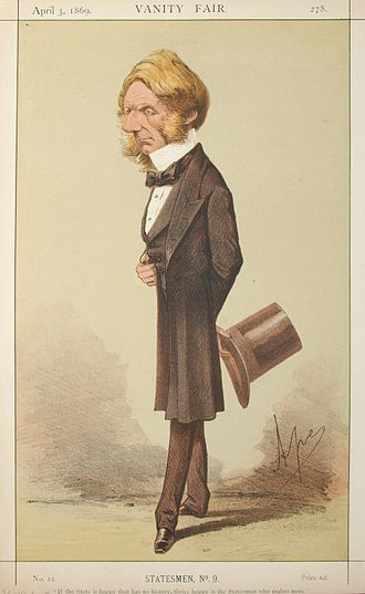 Edward Cardwell, 1st Viscount Cardwell - Cardwell caricatured by Ape in Vanity Fair, 1869