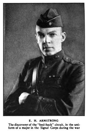 Lucien Lévy - Edwin H Armstrong in World War I signal corps uniform