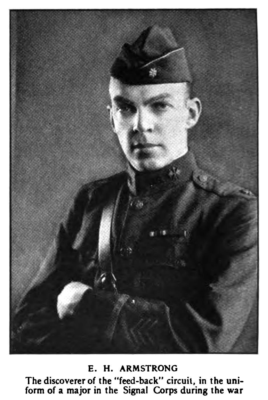 Edwin H Armstrong in WWI 1922