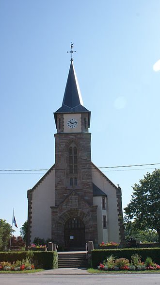 Ancerviller - The church in Ancerviller