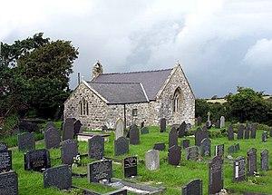 St Iestyn's Church, Llaniestyn - Image: Eglwys a Mynwent Llaniestyn Church and Cemetery