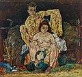 Egon Schiele - Kauerndes Menschenpaar (Die Familie) - 4277 - Österreichische Galerie Belvedere.jpg