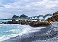 Eight arch bridge with rock at Sansiantai Scenic Area.jpg