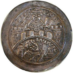 Louis II, Landgrave of Thuringia - Bracteate of Louis II the Iron (1140–1172), National Museum in Warsaw