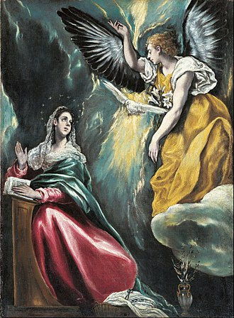 Annunciation - The Annunciation by El Greco, c. 1590–1603, Ohara Museum of Art, Kurashiki, Japan