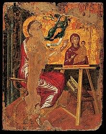 Resultado de imagen de El Greco etapa cretense San Lucas pintando a la figura de la Virgen María