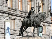 El Caballito, equestrian sculpture of King Charles IV of Spain by Manuel Tolsá.