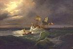 El vapor de Isabel II en la Marejada - Antonio de Bugada 1.jpg