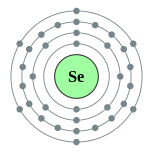 Electron shells of selenium (2, 8, 18, 6)