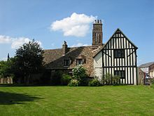 Oostelijke aspect van het Oliver Cromwell House in Ely