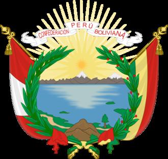 Peru–Bolivian Confederation - Image: Emblem of Peru–Bolivian Confederation