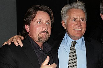 Martin Sheen - Sheen with son Emilio Estevez at the BFI premiere of his film The Way in London February 2011