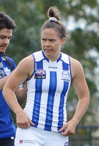 Emma Kearney (sportswoman) - Kearney with North Melbourne in January 2019