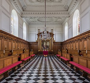 Emmanuel College, Cambridge - The chapel looking towards the altar