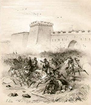 History of Islam in southern Italy - The joint capture of Bari by German and Franco-Lombard troops led by the Emperor Louis II in 871.