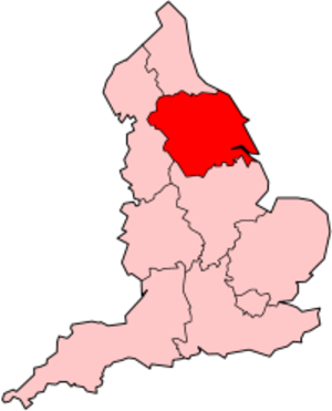 Yorkshire and the Humber (European Parliament constituency) - Image: England Yorkshire Humber