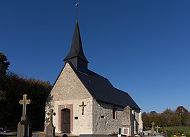 The church in Englesqueville-en-Auge