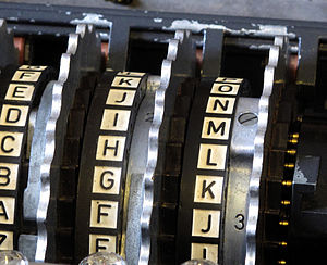 Enigma machine - Enigma rotor assembly. In the Wehrmacht Enigma, the three installed movable rotors are sandwiched between two fixed wheels: the entry wheel, on the right, and the reflector on the left.