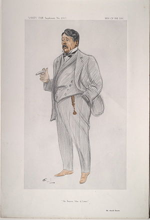 Arnold Bennett - Arnold Bennett caricatured by OWL for Vanity Fair, 1913