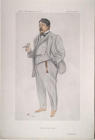 Arnold Bennett - Arnold Bennett caricatured by OWL for Vanity Fair, 1913