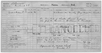 Cherokee Nation - Example of a Cherokee census card for Fairland, Oklahoma from the first few years of the 20th century.