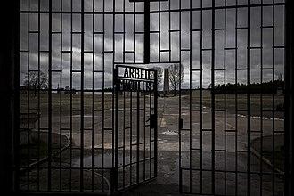 Sachsenhausen concentration camp - Sachsenhausen gate Arbeit macht frei
