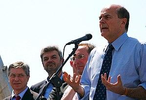 Italian centre-left primary election, 2012 - Bersani with the President of Emilia-Romagna, Vasco Errani, during the electoral campaign.