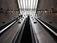 The escalators at Bermondsey tube station