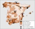 Espanha - Densitat de populacion e vilas principalas.png