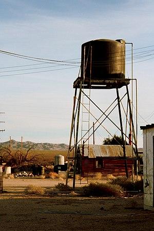 Essex, San Bernardino County, California - Essex water tower in 2006