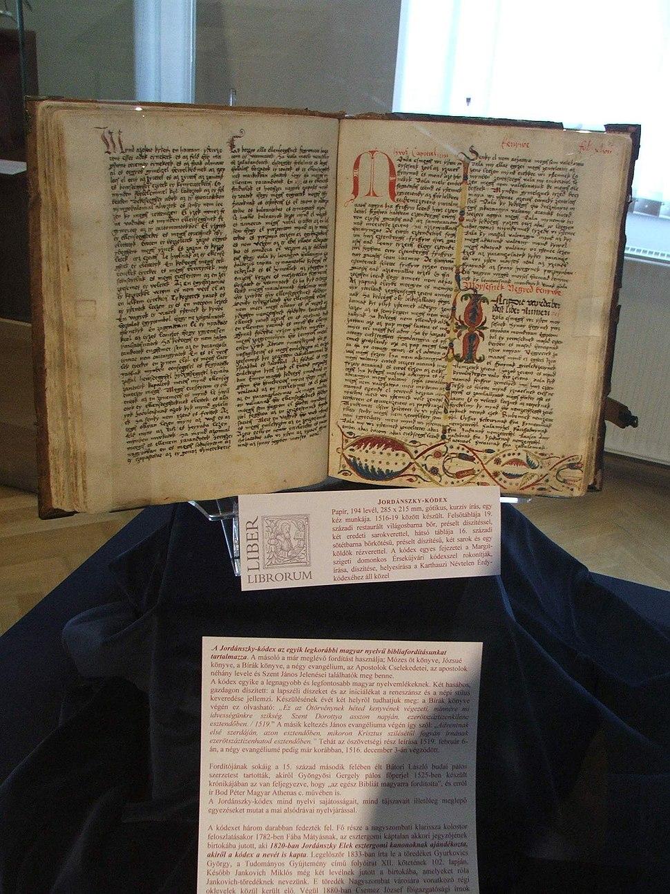 Esztergom Jordánszky-kódex