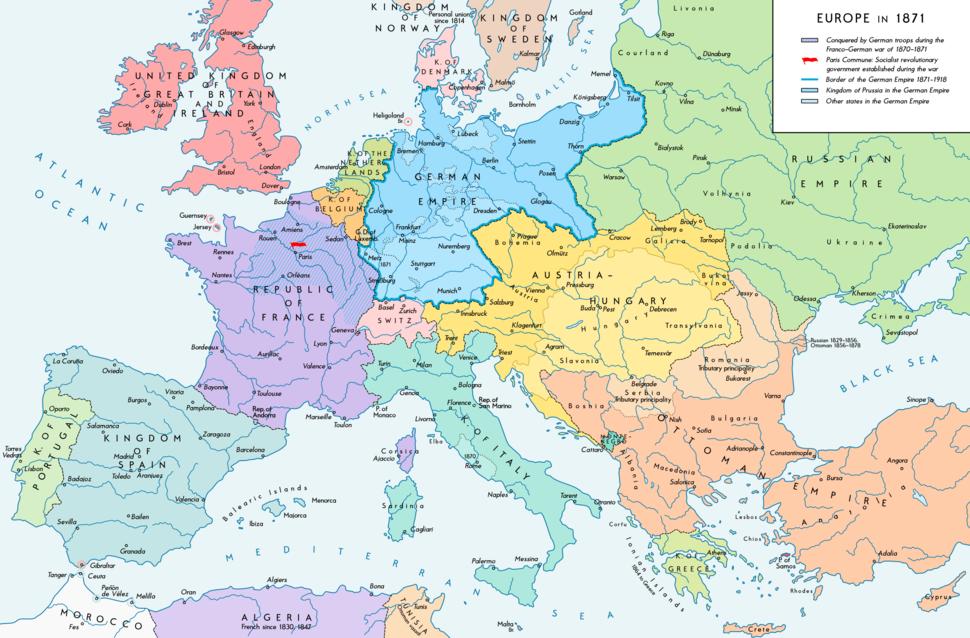 Europe 1871 map en