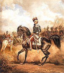 Eustachy Erazm Sanguszko w mundurze kawalerii narodowej (obraz Juliusza Kossaka)