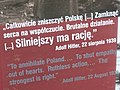 Exhibit with Hitler Quote on Destruction of Poland - Westerplatte - Gdansk - Poland (27473749553).jpg