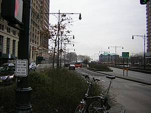 West Side Highway - Beginning of West Street and the West Side Highway starting from the Battery Park Underpass