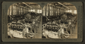 Experts testing engines in an automoblie plant, from Robert N. Dennis collection of stereoscopic views.png