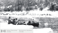 Explorers under Alfred Peter Low moving supplies to Lake Winokaupow, in Labrador, in 1894 -a.png