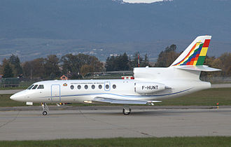 Bolivian Air Force - Bolivia's Presidential Falcon 50 at Geneva International Airport