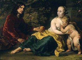 Portrait of Wigbold Slicher and Elisabeth Spiegel as Paris handing Venus the Appel