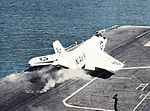 F3H-2 Demon of VF-213 is launched from USS Lexington (CVA-16) c1961.jpg