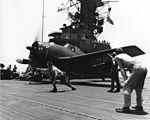 F6F-5N of VMFN-511 on USS Block Island (CVE-106) off Okinawa 1945.jpg