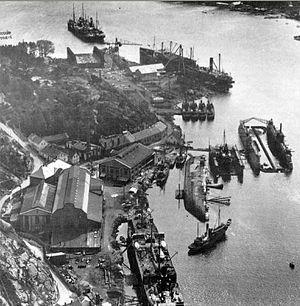 Framnæs Mekaniske Værksted - Framnæs shipyard, 1930
