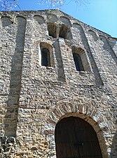 Façana del monestir romànic de Sant Ponç de Corbera -Terme municipal de Cervelló-.jpg